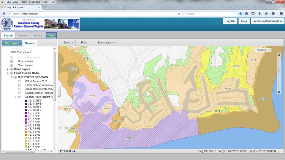 Know Your Flood Hazard Accomack County - Flood map of us