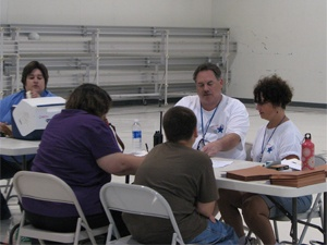 mrc members dispensing flu vaccine