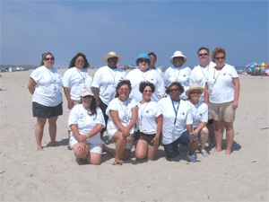mrc members on the beach