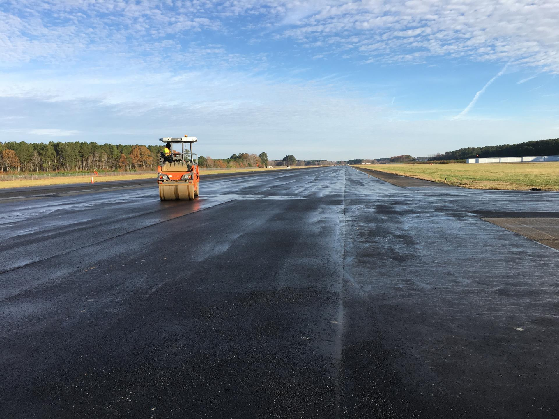 Runway facing North