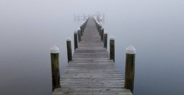 dock in fog